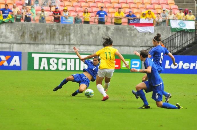 Brasil x Itália Arena da Amazônia (Foto: Mauro Neto/Sejel)
