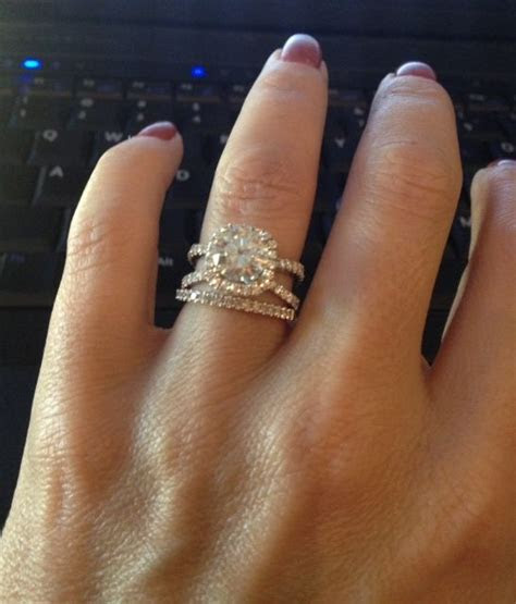 Split Shank on Pinterest   Circle Engagement Rings, Halo