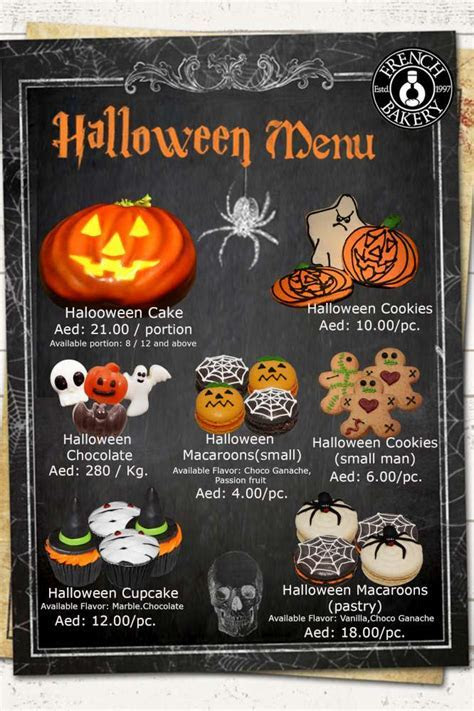 Halloween Menu   French Bakery Dubai, Article UAE