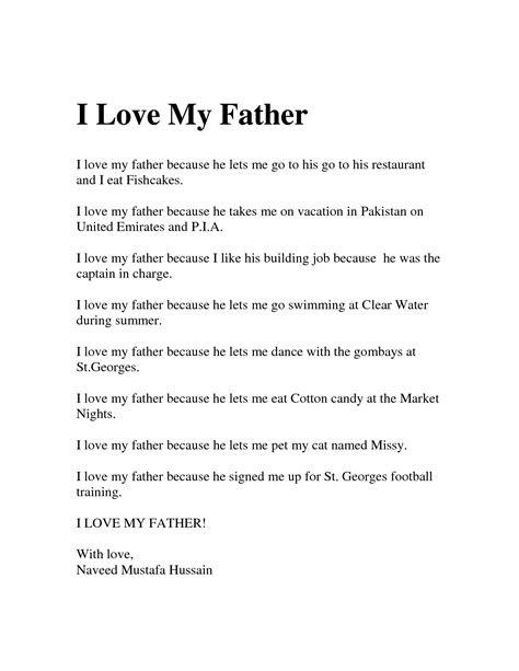 I Love My Daddy Because Quotes