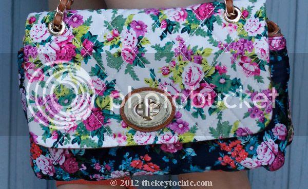 Aldo Devoss floral handbag