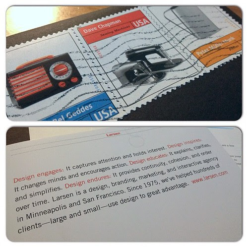 Unique postage stamps get noticed in a stack of generic corporate mail.