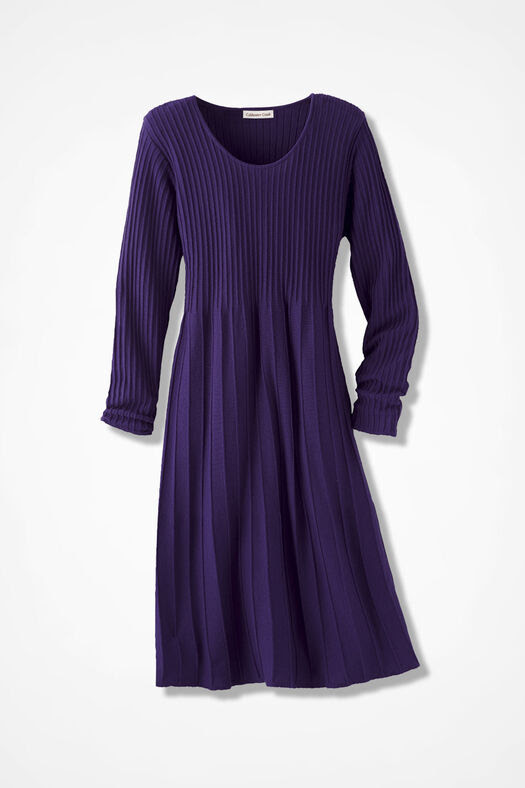 AM/PM Sweater Dress, Imperial Purple, large