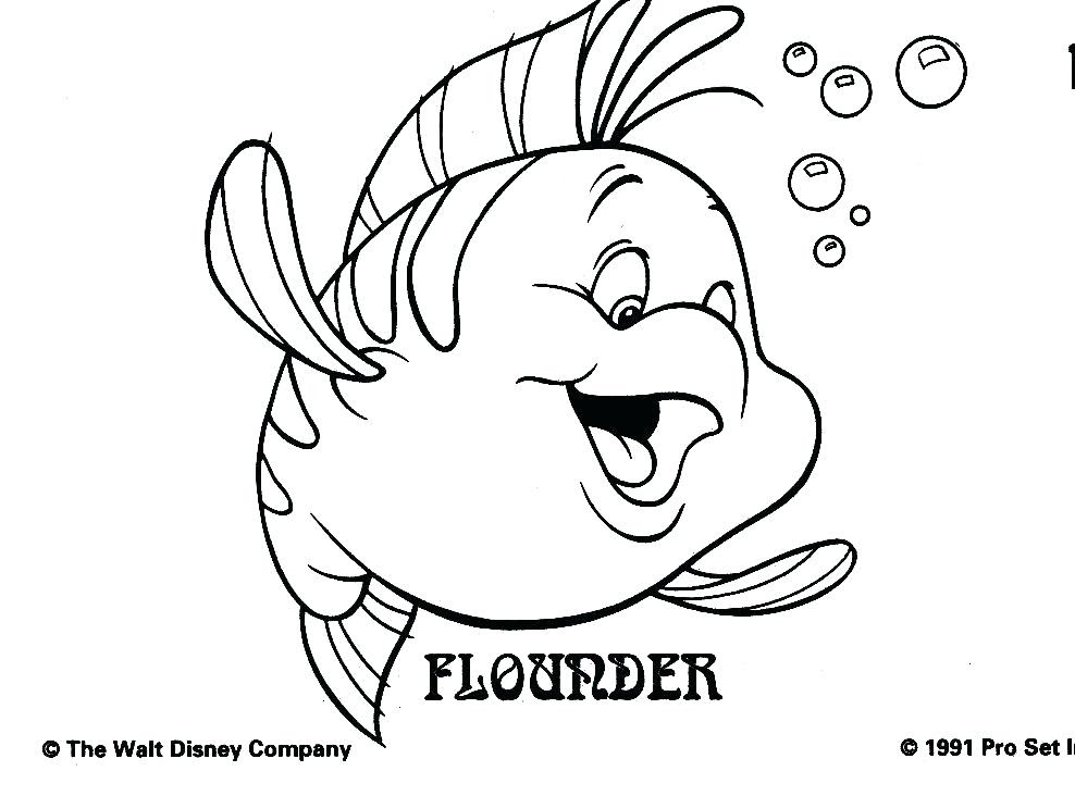Flounder Coloring Pages From The Little Mermaid at ...