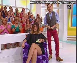 Andreia Rodrigues sensual nos tempos das tardes na Sic