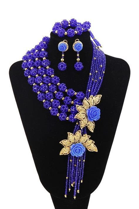 Fashions 2015 Flower New Style African Beads Jewelry Set