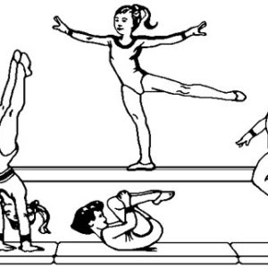Gymnastics Hard Coloring Pages For Girls Coloring Ideas