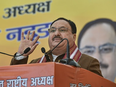 JP Nadda was elected unopposed as the 11th national president of the BJP. PTI