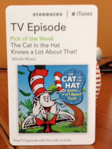 Starbucks iTunes Pick of the Week - 07/03/12 - The Cat In the Hat Knows a Lot About That!