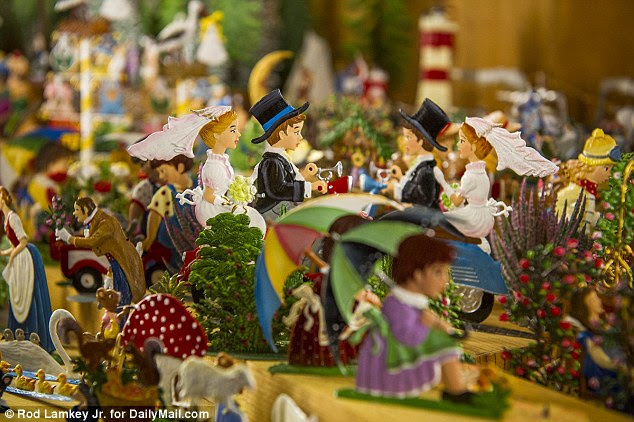 The quaint shop sells ornaments, nutcrackers, candles, music boxes and other German-made treasures