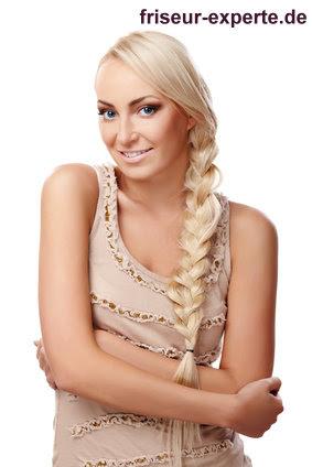 Langer Geflochtener Zopf Für Lange Schwere Haare Hier Blond Und