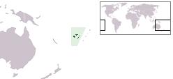 Localização da Fiji