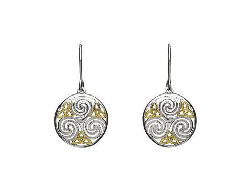 Sterling silver Celtic design circular earrings   Celtic