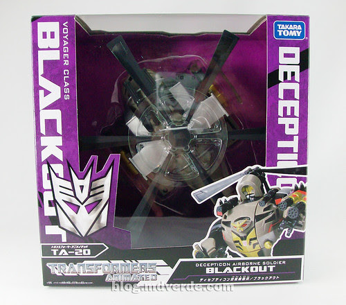 Transformers Blackout Animated Voyager Takara - caja