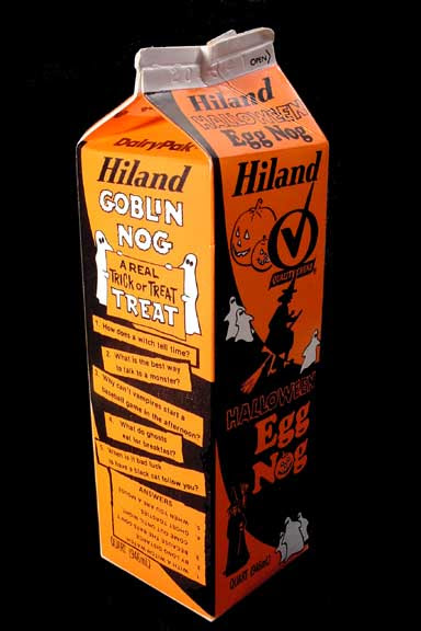Halloween Egg Nog Carton