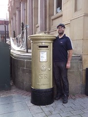 Me with Jessica Ennis' Gold Post Box