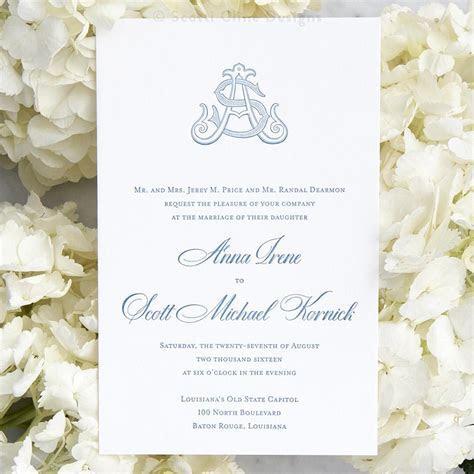 Monogram Letterpress Wedding Invitation ? Scotti Cline Designs