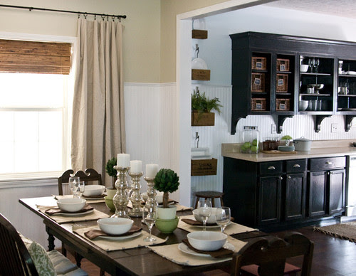 Lettered Cottage kitchen traditional dining room