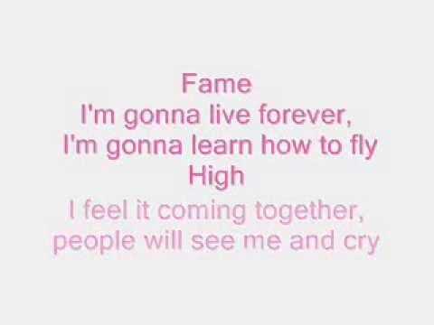 Fame I Am Going To Live Forever Lyrics