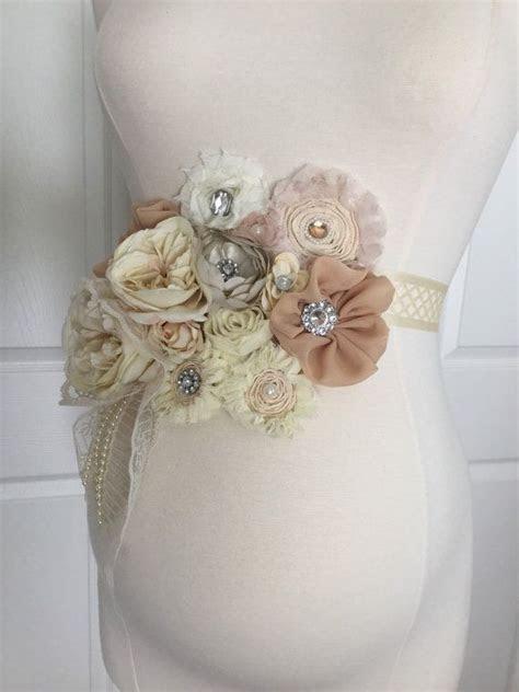 3 in 1 Vintage Beige Ivory Maternity Sash  Bridal Sash