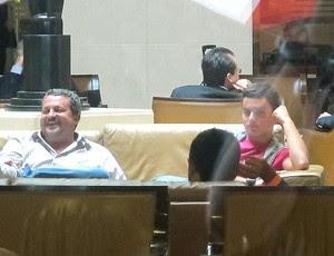 Jean Chera em hotel no Rio de Janeiro (Foto: Richard Souza / GLOBOESPORTE.COM)