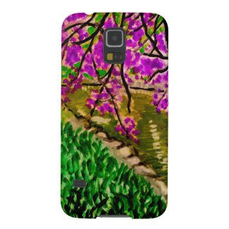 Cherry Blossom Art on Samsung Galaxy S5 Case