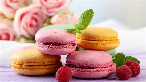 Tasty Macaroons HD Wallpaper   WallpaperFX