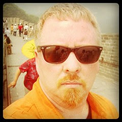 Me at forty-two. Touring the Great Wall on my first trip to #China, can't wait til I get to the end of it. by ObieVIP