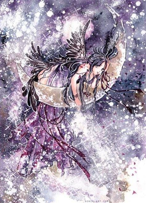 xin moon child anime manga kawaii galaxy fantasy art