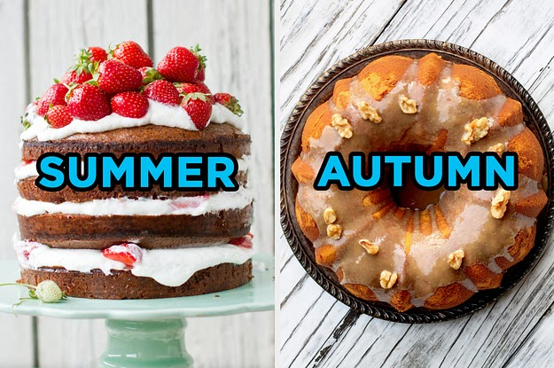 Make A Cake In 5 Easy Steps And We'll Reveal Which Season You're Most Like