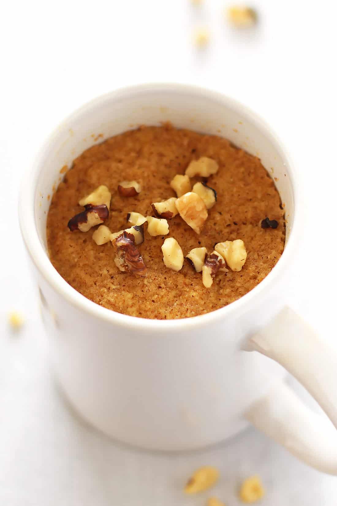 Paleo Pumpkin Mug Cake made with Coconut Flour - Leelalicious