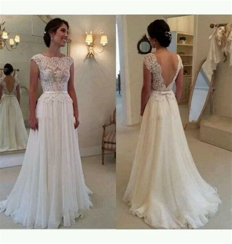 whiteivory cap sleeve lace wedding dress bridal gown