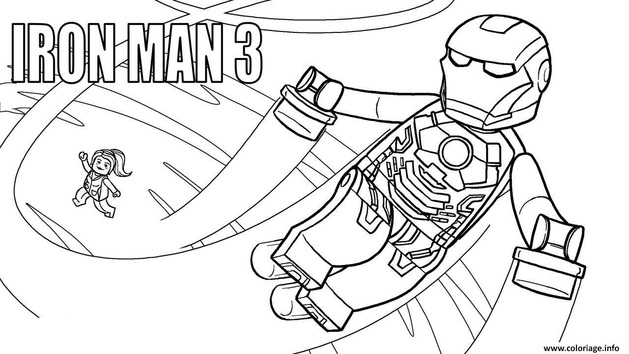Coloriage Lego Marvel Iron Man 3 Jecoloriecom