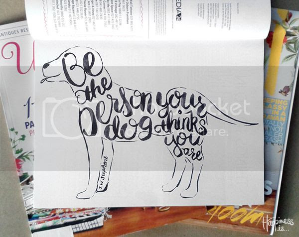 Hand lettering by Fathima Kathrada at Happiness is... in Ideas Magazine June 2015
