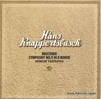 KNAPPERTSBUSCH, HANS bruckner; symphony no.9 in d minor