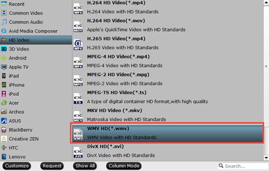 Output WMM supported editing formats