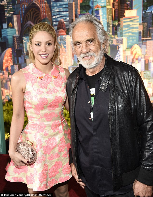 Teaming up: On the red carpet, the musician was accompanied by comedian Tommy Chong