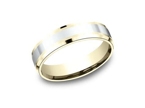 Two Tone Comfort Fit Design Wedding Band CF18601114KWY06