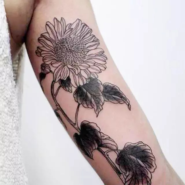 80 Bright Sunflower Tattoos Designs Meanings For Happy Life 2019