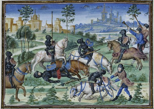 15th century illuminated manuscript miniature: Henri de Ferrières, Les Livres du roy Modus et de la royne Ratio 343