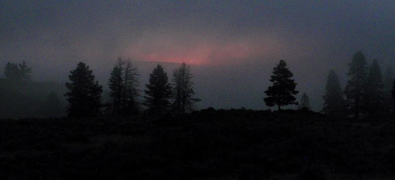 Sunrise and fog, Yellowstone