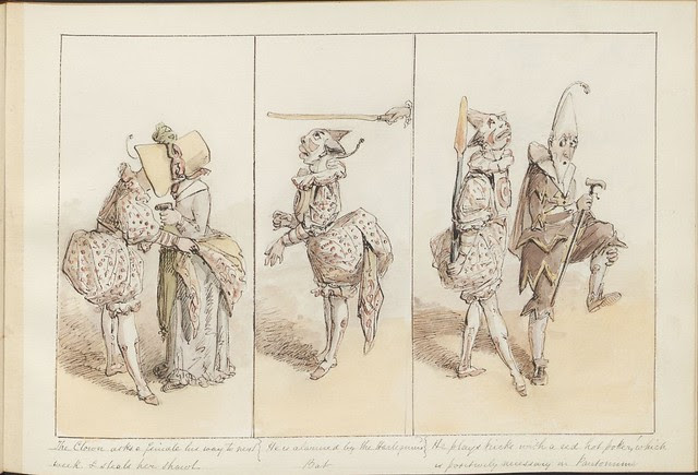 Pantomime as it was is and will be by Alfred Crowquill (aka Alfred H Forrester) - 1849 - (The clown asks a female...) - courtesy Harvard U