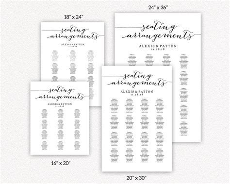 Seating Arrangements Templates · Wedding Templates and