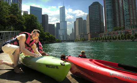 Fireworks Paddle, Historic Chicago Tour, or Sunset Paddle for One or Two from Urban Kayaks