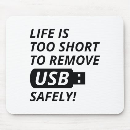 Remove USB Safely Mouse Pad