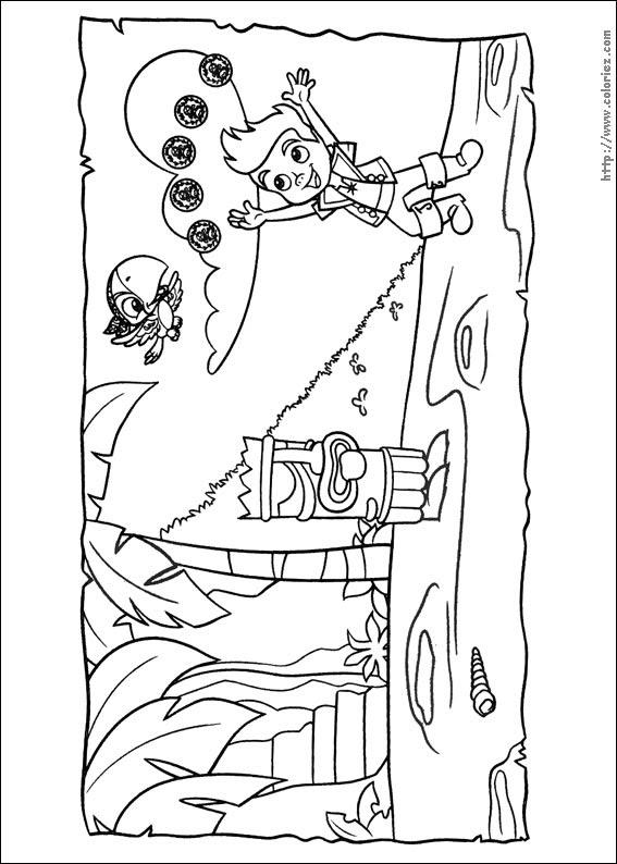Coloriage Jake Et Les Pirates Du Pays Imaginaire Choisis Tes