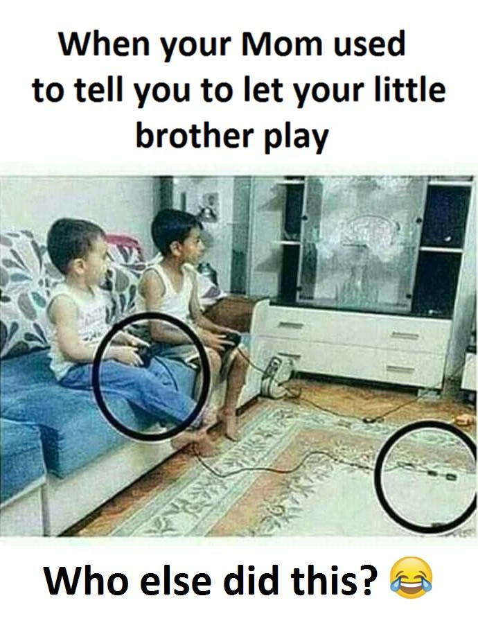 Little Brother Play Funny Pictures Quotes Memes Funny Images