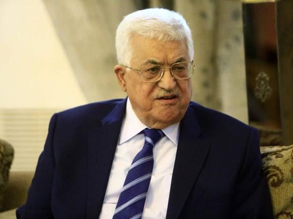 Il presidente palestinese Abu Mazen (Afp)