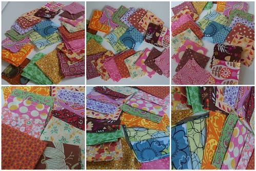 Destashing Fabric Scraps - Quilt Squares