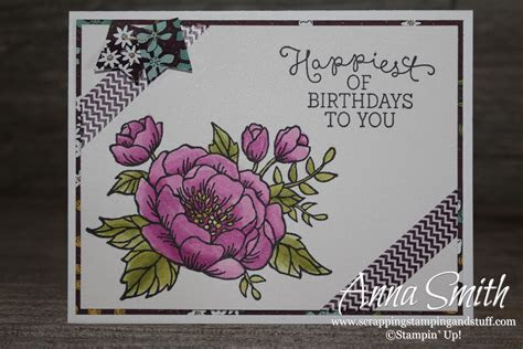 Birthday Blooms Card   Scrapping Stamping and Stuff